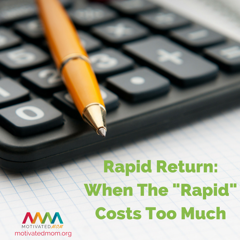 Calculating The Rapid Return: When The Rapid Costs Too Much