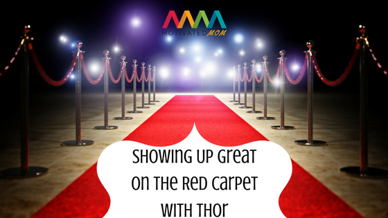 Showing Up Great On The Red Carpet With Thor