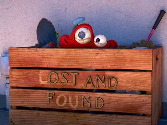"Disney short ""Lou"" - Lou looking out of the lost and found box"